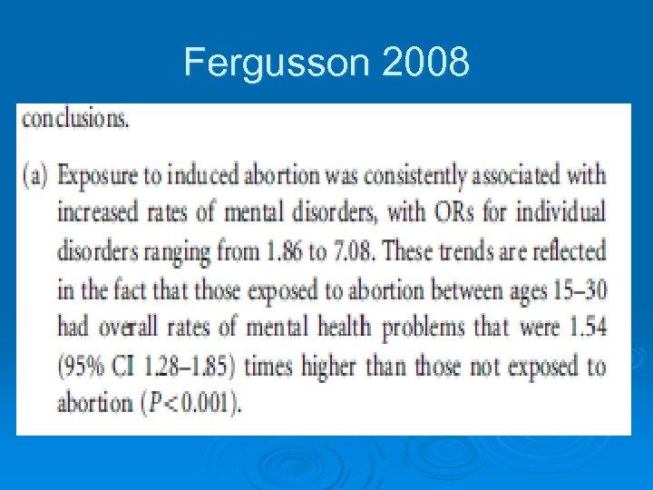 Fergusson 2008
