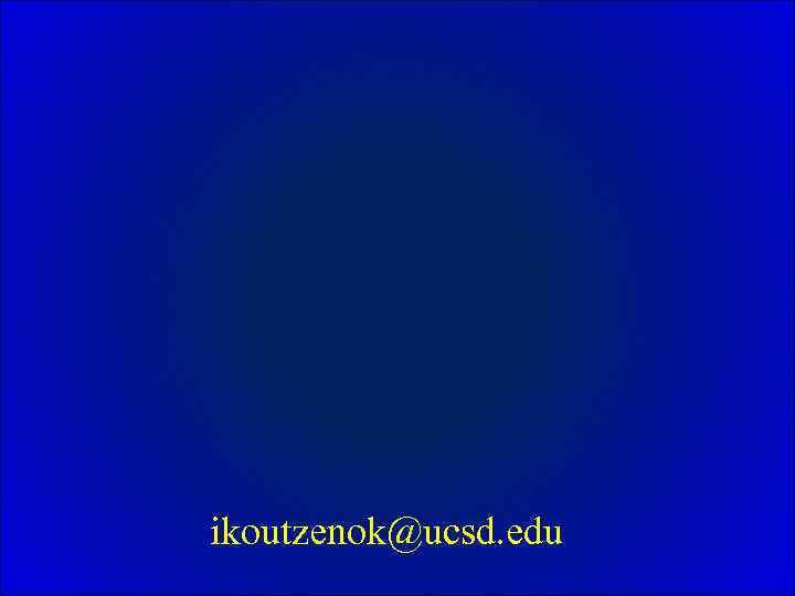 ikoutzenok@ucsd. edu