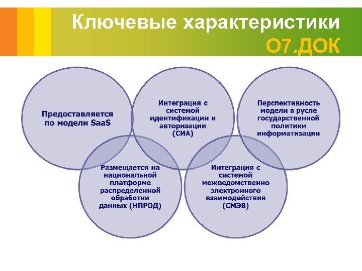 Ключевые характеристики О 7. ДОК