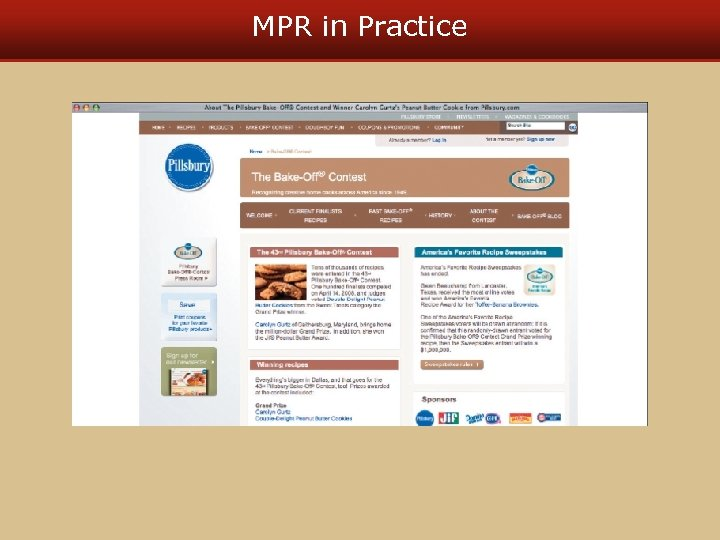 MPR in Practice