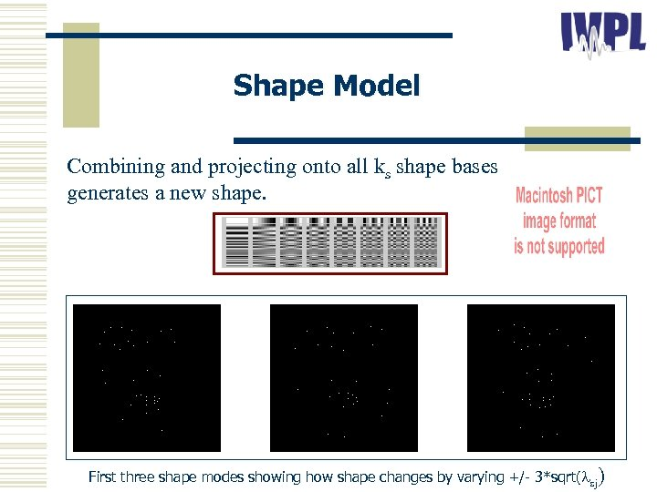Shape Model Combining and projecting onto all ks shape bases generates a new shape.