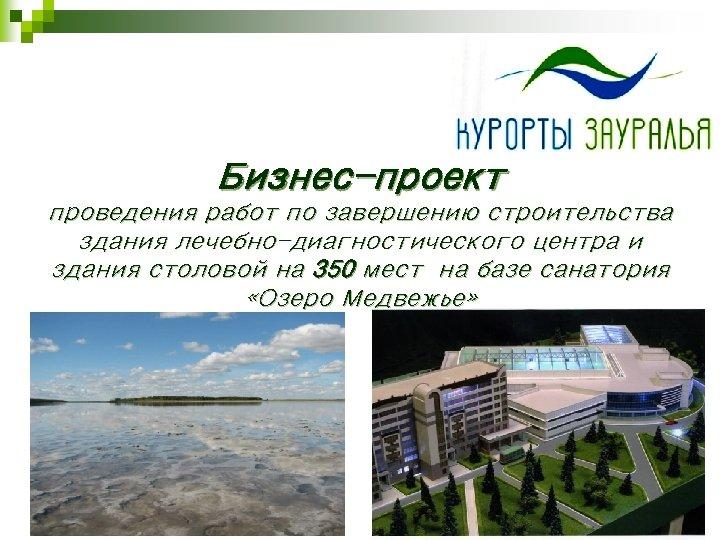 Бизнес-проект проведения работ по завершению строительства здания лечебно-диагностического центра и здания столовой на 350
