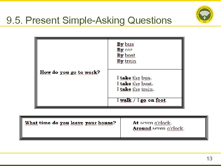 9. 5. Present Simple-Asking Questions 13