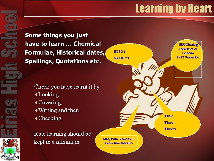 Learning by Heart Some things you just have to learn … Chemical Formulae, Historical