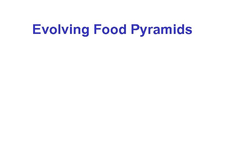 Evolving Food Pyramids