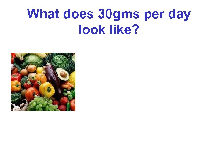 What does 30 gms per day look like?