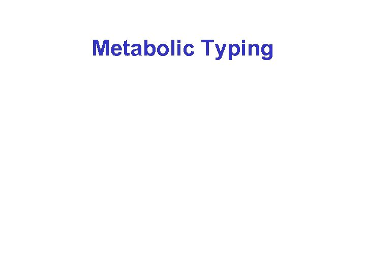 Metabolic Typing