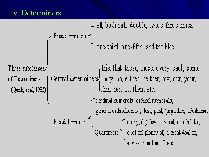 iv. Determiners