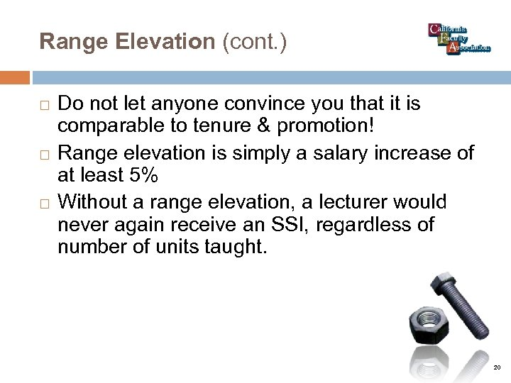 Range Elevation (cont. ) Do not let anyone convince you that it is comparable
