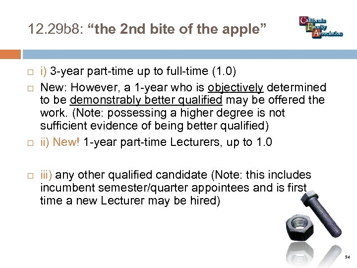"""12. 29 b 8: """"the 2 nd bite of the apple"""" i) 3 -year"""