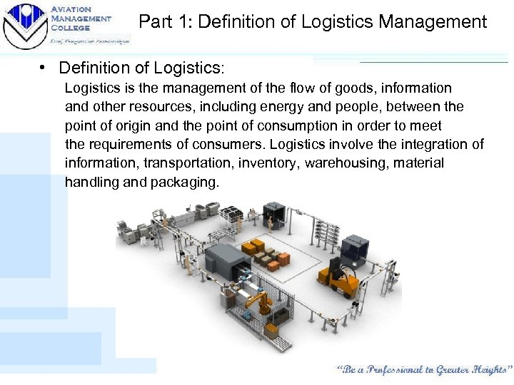 LOGISTIC WAREHOUSING Fundamentals of Logistics Management