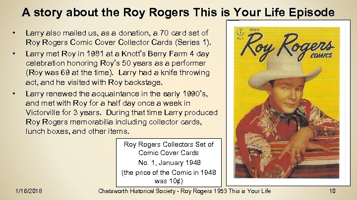A story about the Roy Rogers This is Your Life Episode • • •