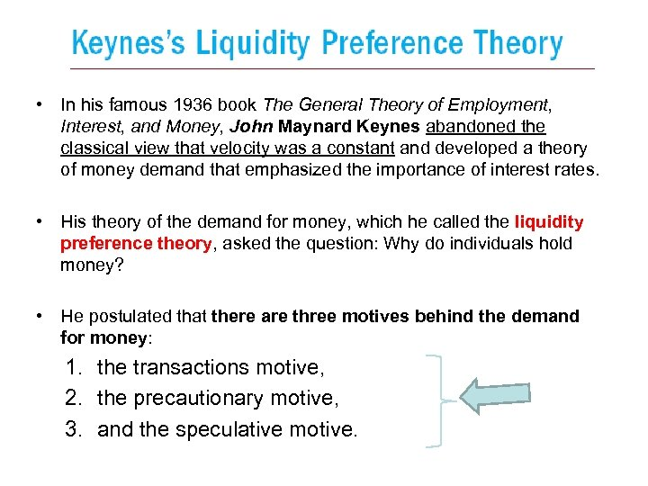 • In his famous 1936 book The General Theory of Employment, Interest, and
