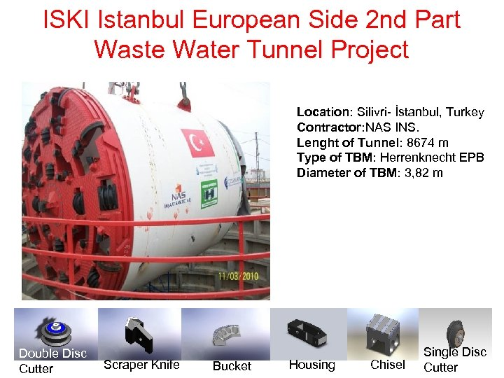 ISKI Istanbul European Side 2 nd Part Waste Water Tunnel Project Location: Silivri- İstanbul,