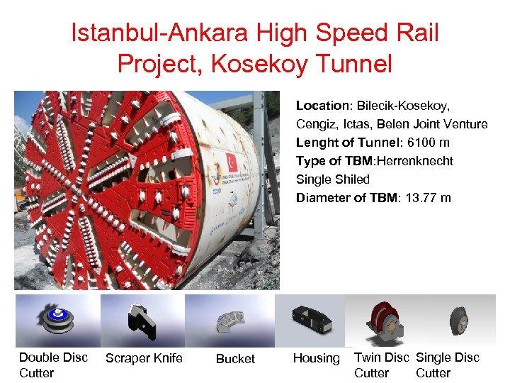 Istanbul-Ankara High Speed Rail Project, Kosekoy Tunnel Location: Bilecik-Kosekoy, Cengiz, Ictas, Belen Joint Venture