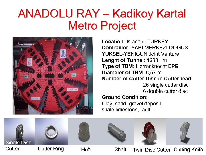 ANADOLU RAY – Kadikoy Kartal Metro Project Location: İstanbul, TURKEY Contractor: YAPI MERKEZI-DOGUSYUKSEL-YENIGUN Joint