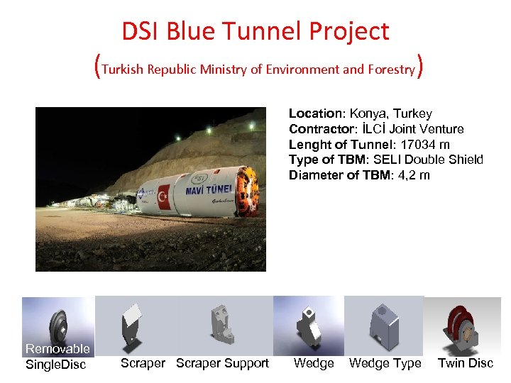DSI Blue Tunnel Project (Turkish Republic Ministry of Environment and Forestry) Location: Konya, Turkey