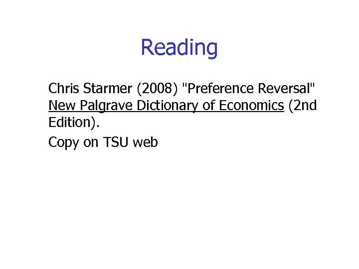 Reading Chris Starmer (2008)