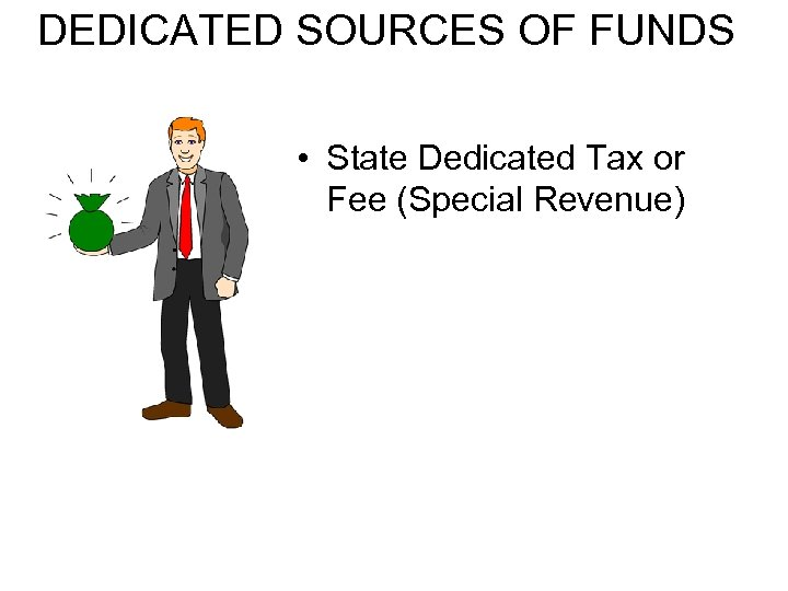 DEDICATED SOURCES OF FUNDS • State Dedicated Tax or Fee (Special Revenue)