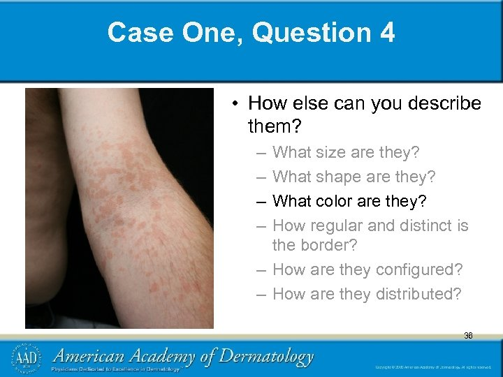 Case One, Question 4 • How else can you describe them? – – What