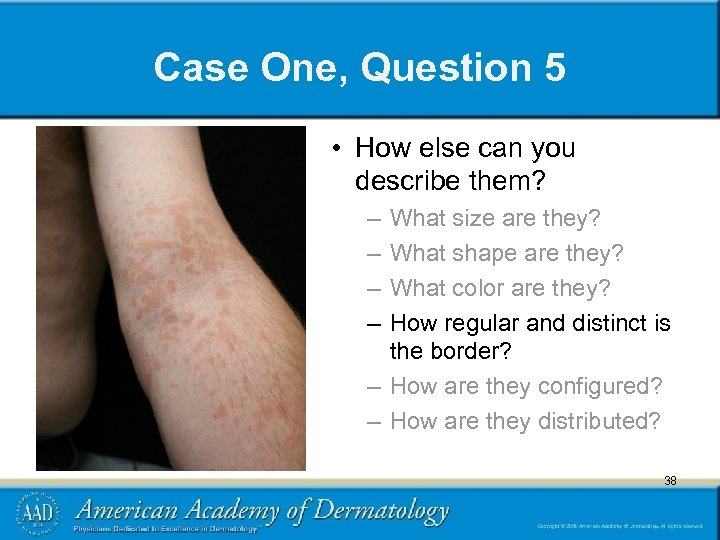 Case One, Question 5 • How else can you describe them? – – What