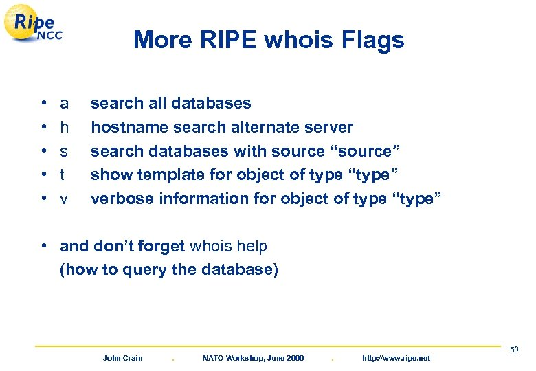 More RIPE whois Flags • • • a h s t v search all