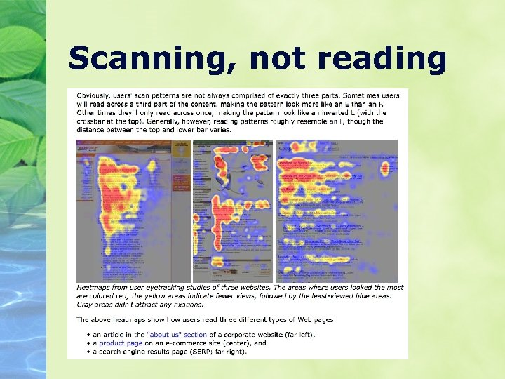 Scanning, not reading