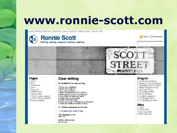 www. ronnie-scott. com