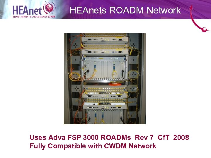 HEAnets ROADM Network Uses Adva FSP 3000 ROADMs Rev 7 Cf. T 2008 Fully