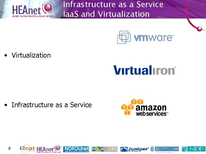 Infrastructure as a Service Iaa. S and Virtualization • Infrastructure as a Service 8