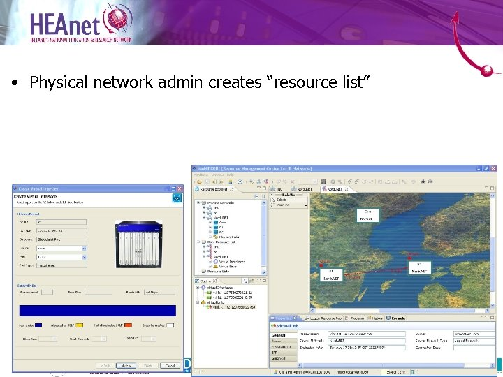 "• Physical network admin creates ""resource list"" 20"