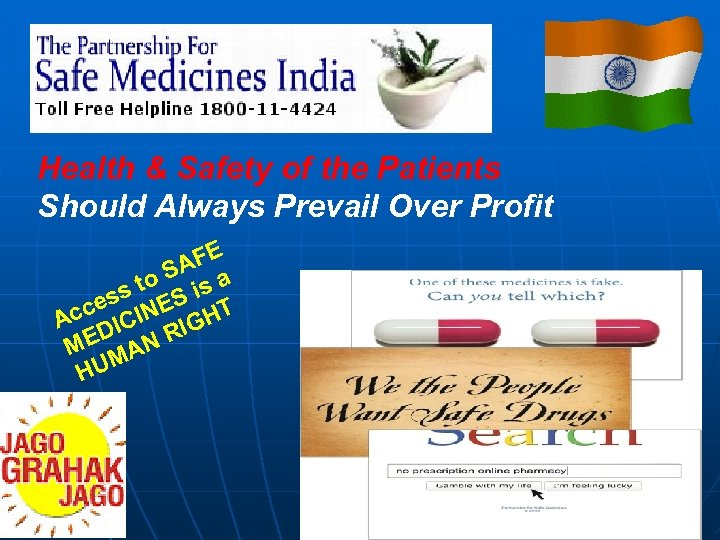 Health & Safety of the Patients Should Always Prevail Over Profit E AF to