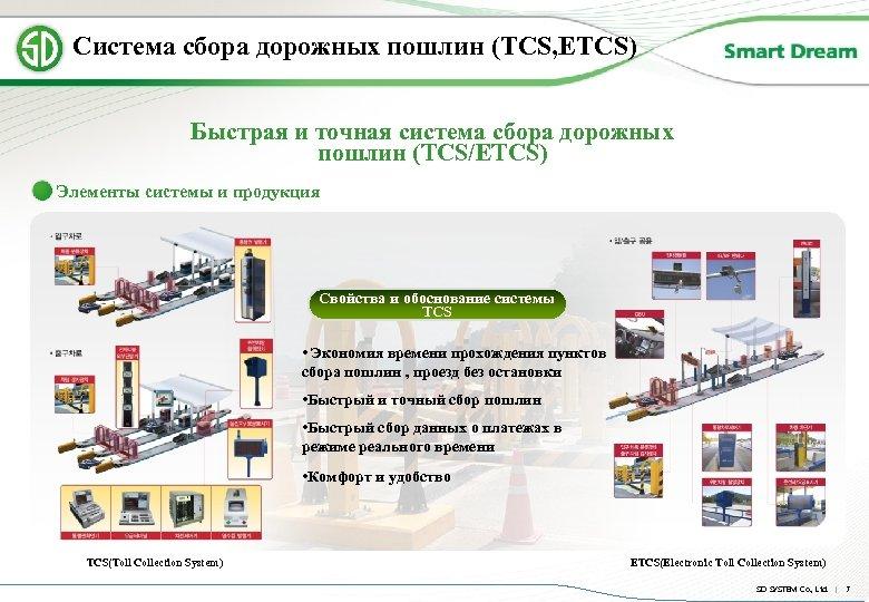 Система сбора дорожных пошлин (TCS, ETCS) Быстрая и точная система сбора дорожных пошлин (TCS/ETCS)