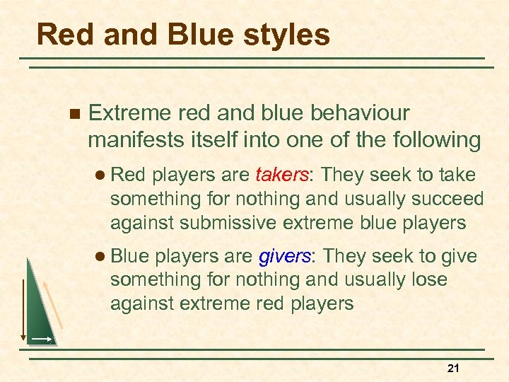 Red and Blue styles n Extreme red and blue behaviour manifests itself into one
