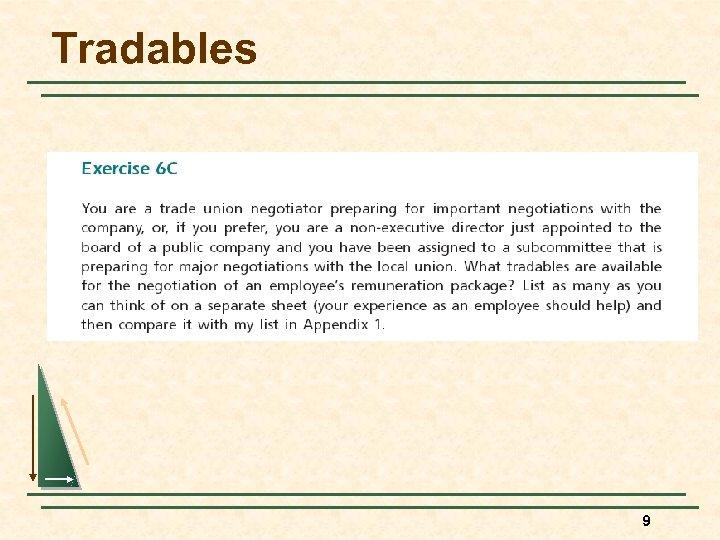 Tradables 9