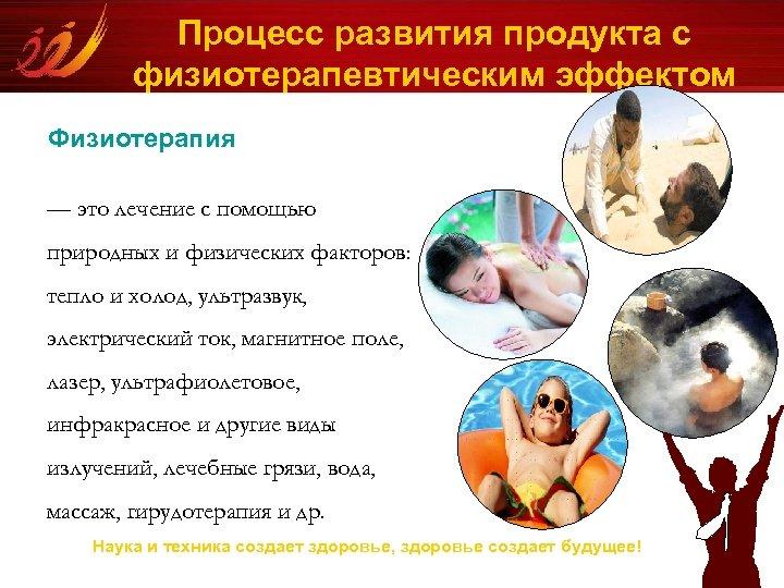 Процесс развития продукта с физиотерапевтическим эффектом Физиотерапия — это лечение с помощью природных и