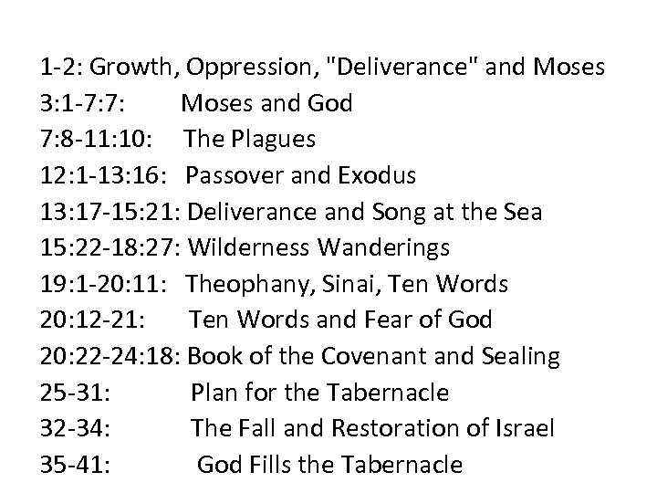 1 -2: Growth, Oppression,