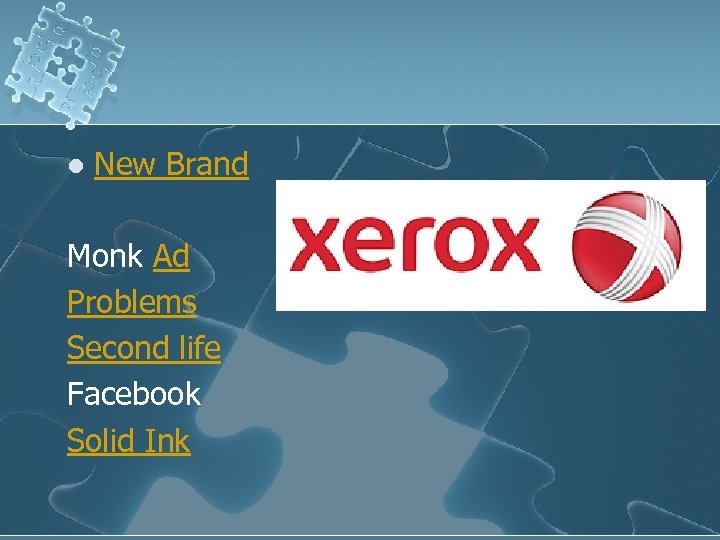 l New Brand Monk Ad Problems Second life Facebook Solid Ink