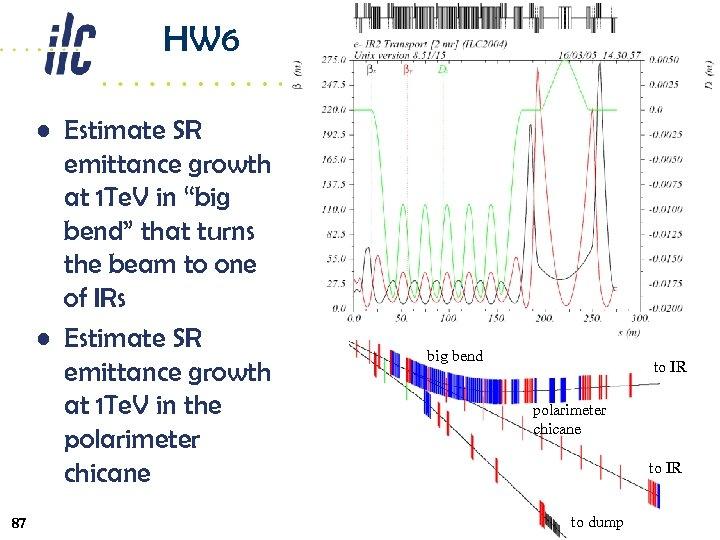 """HW 6 • Estimate SR emittance growth at 1 Te. V in """"big bend"""""""