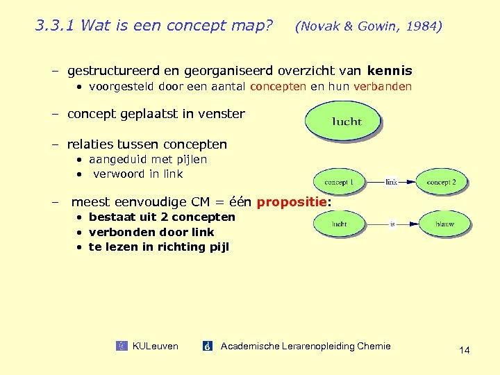 3. 3. 1 Wat is een concept map? (Novak & Gowin, 1984) – gestructureerd