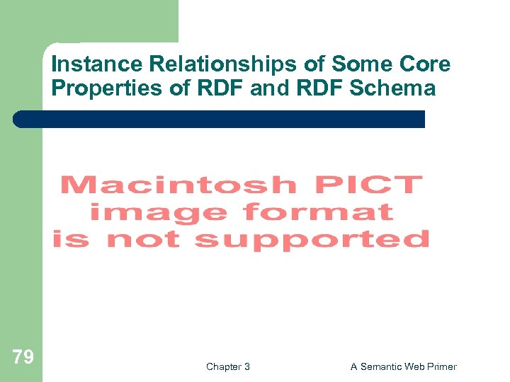 Instance Relationships of Some Core Properties of RDF and RDF Schema 79 Chapter 3