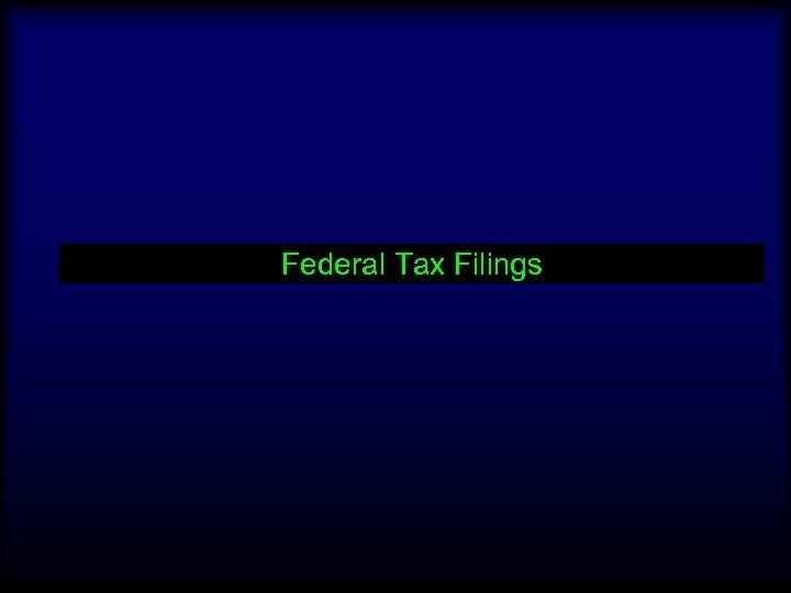 Federal Tax Filings 12