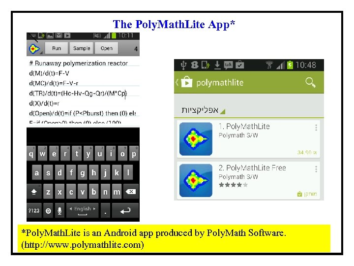 The Poly. Math. Lite App* *Poly. Math. Lite is an Android app produced by