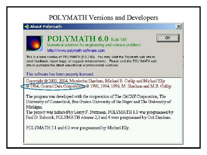 POLYMATH Versions and Developers