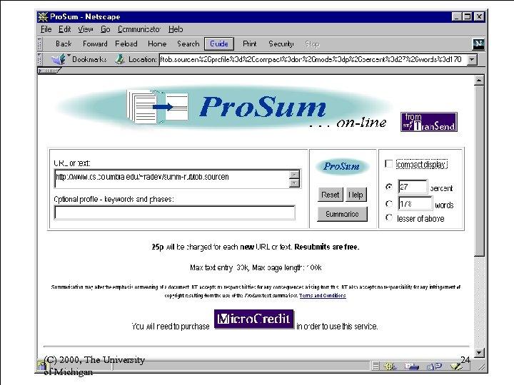 (C) 2000, The University of Michigan 24