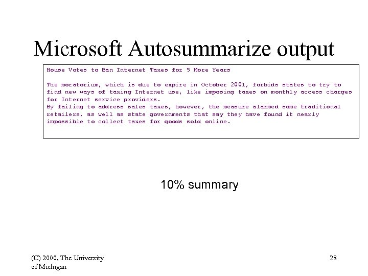 Microsoft Autosummarize output House Votes to Ban Internet Taxes for 5 More Years The