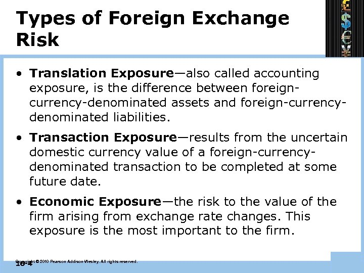 Chapter 16 Foreign Exchange Risk