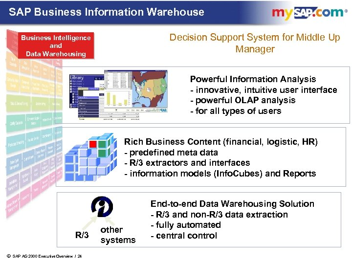 SAP Business Information Warehouse Decision Support System for Middle Up Manager Business Intelligence and