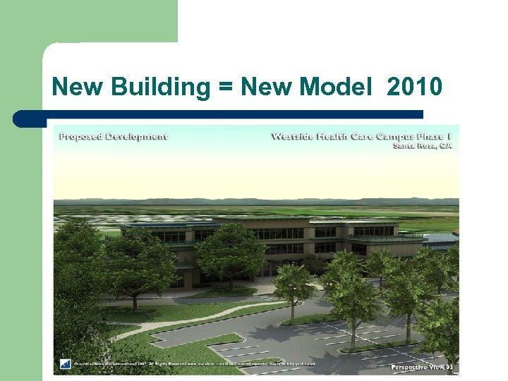 New Building = New Model 2010