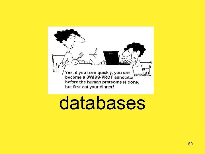Biological databases 50